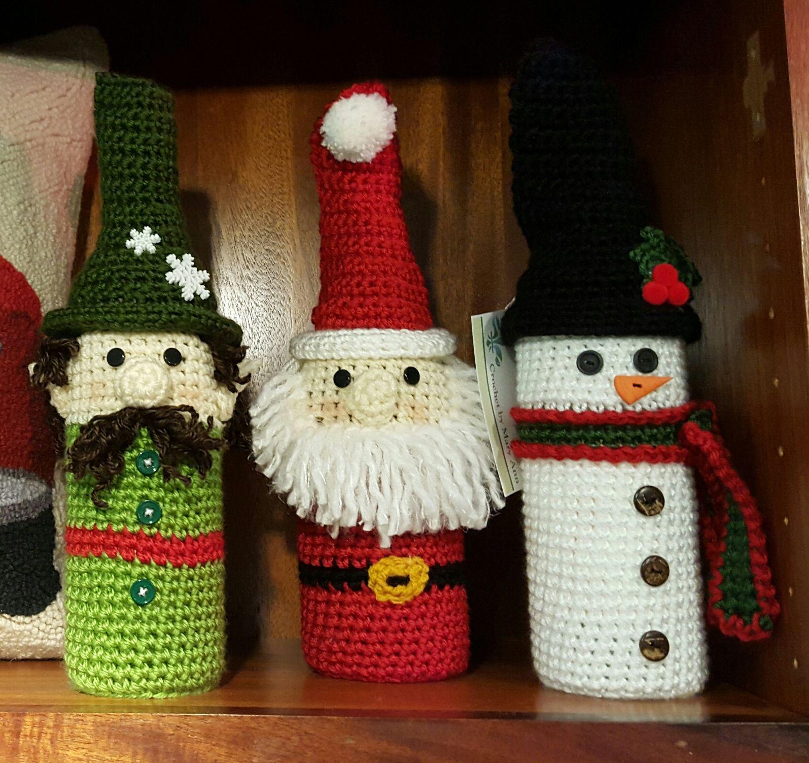 Fantastically Festive Bottle Buddies created by Mary Ann :)