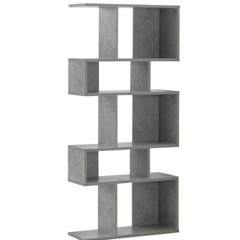 Fonseca Geometric Bookcase Corner Bookshelves Shelves Ladder Shelf