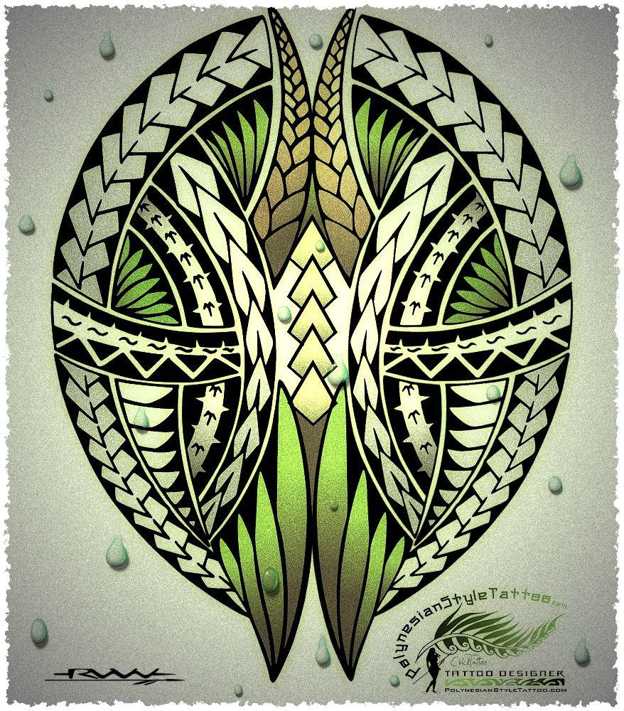 Polynesian Sharks Mouth By Cameron Rutten: PolynesianStyleTattoo.com Custom Polynesian Style Tattoo