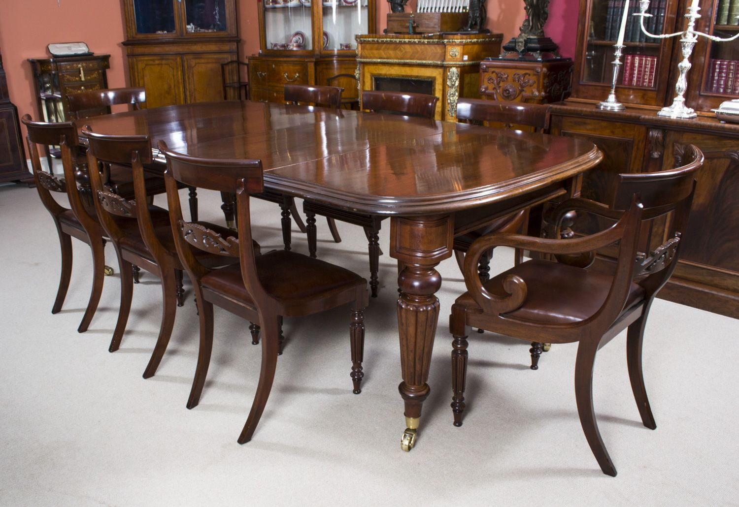 A Beautiful Antique Dining Table And Chair Set Just In Time For