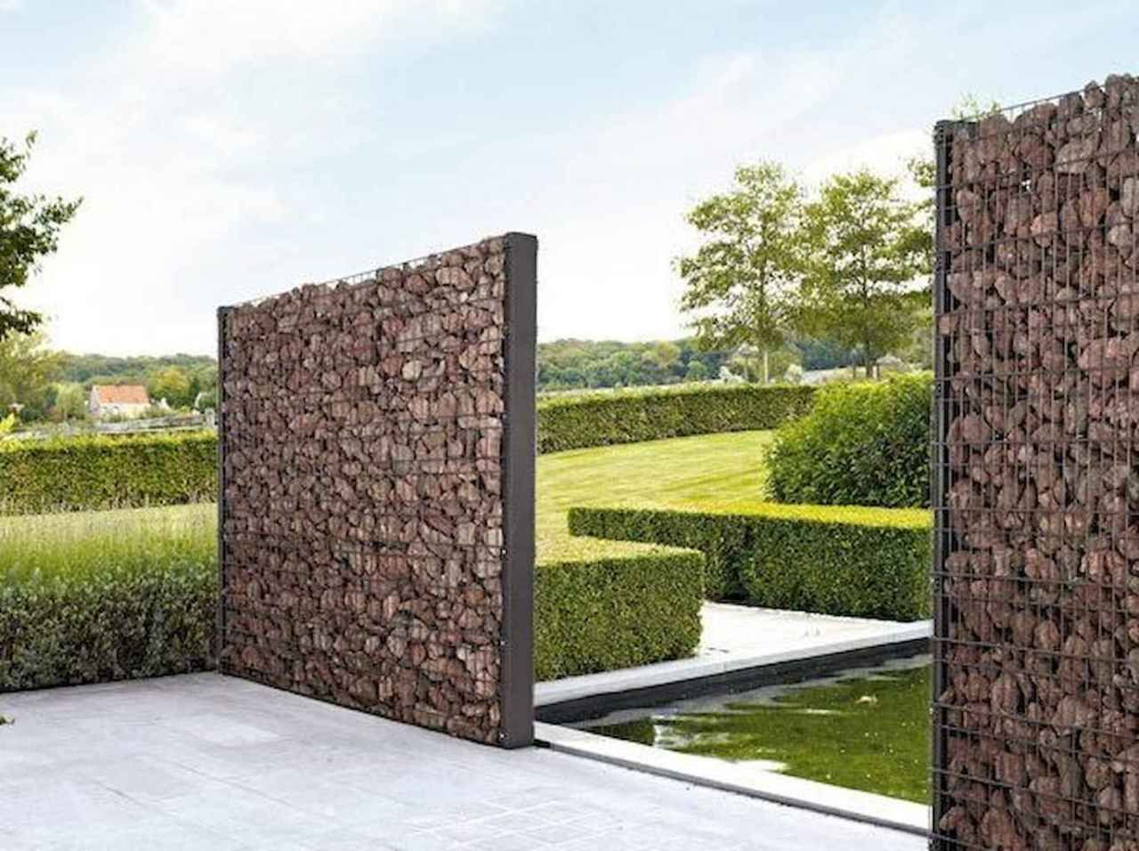 01 Gorgeous Gabion Fence Design For Garden Ideas 01 Design