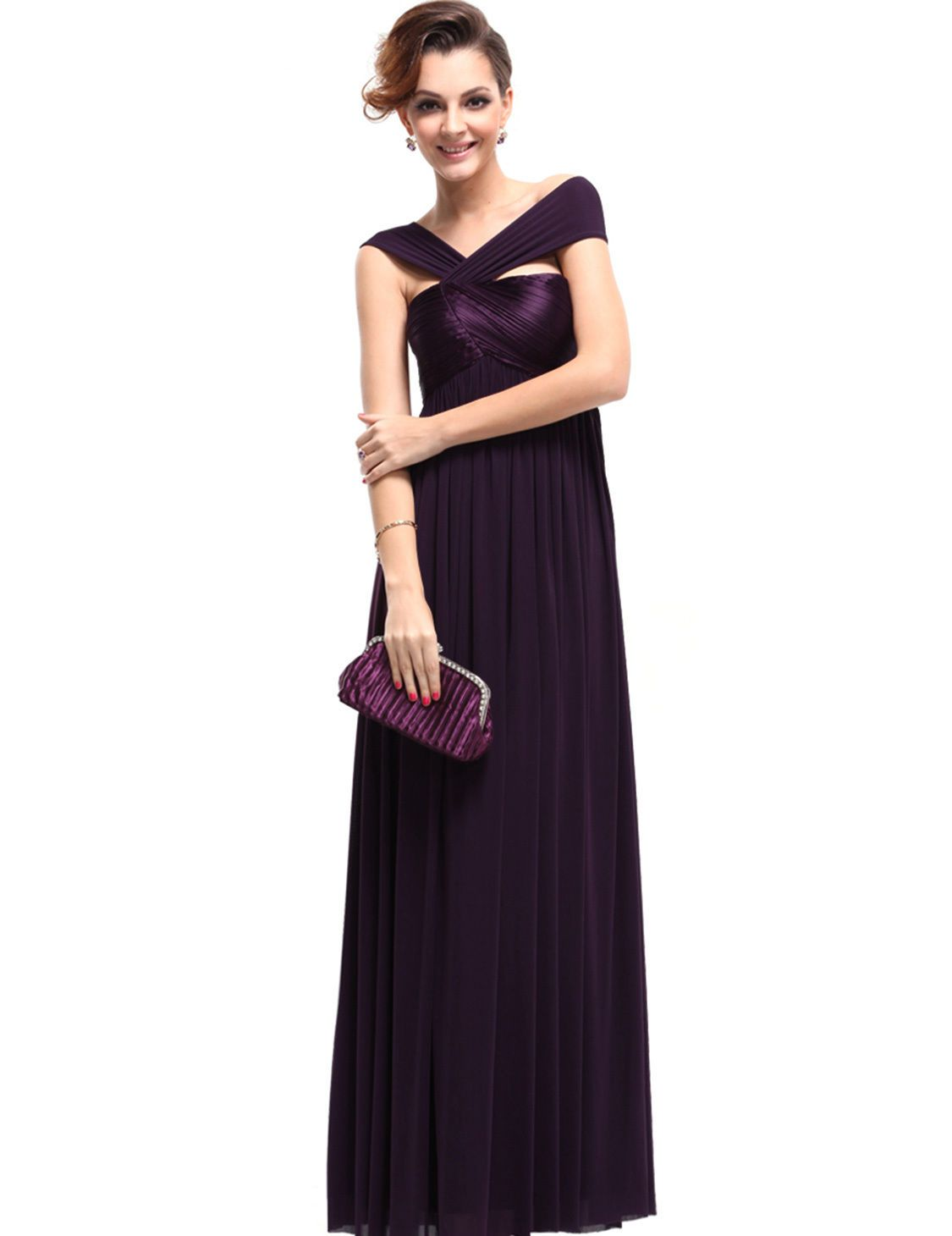 Awesome purple mother of the bride dresses pageant homecoming party