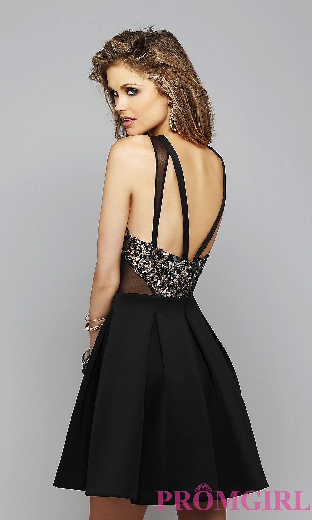 Image of Black Open Back Short Dress Back Image | Dresses & Outfits ...