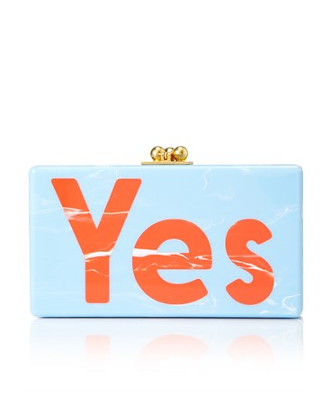 Blue Acrylic Yes Jean Clutch - on #sale 40% off @ #Avenue32