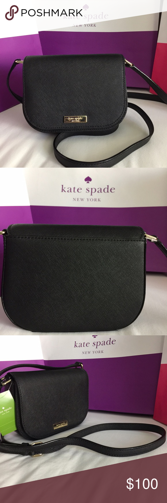 Small purse from Kate Spade. Brand new with tag! This small black leather purse is a perfect accessory for any look. It's size also makes it easy to carry and is never in the way! Kate Spade: Carson (in black), new with tags! kate spade Bags Mini Bags