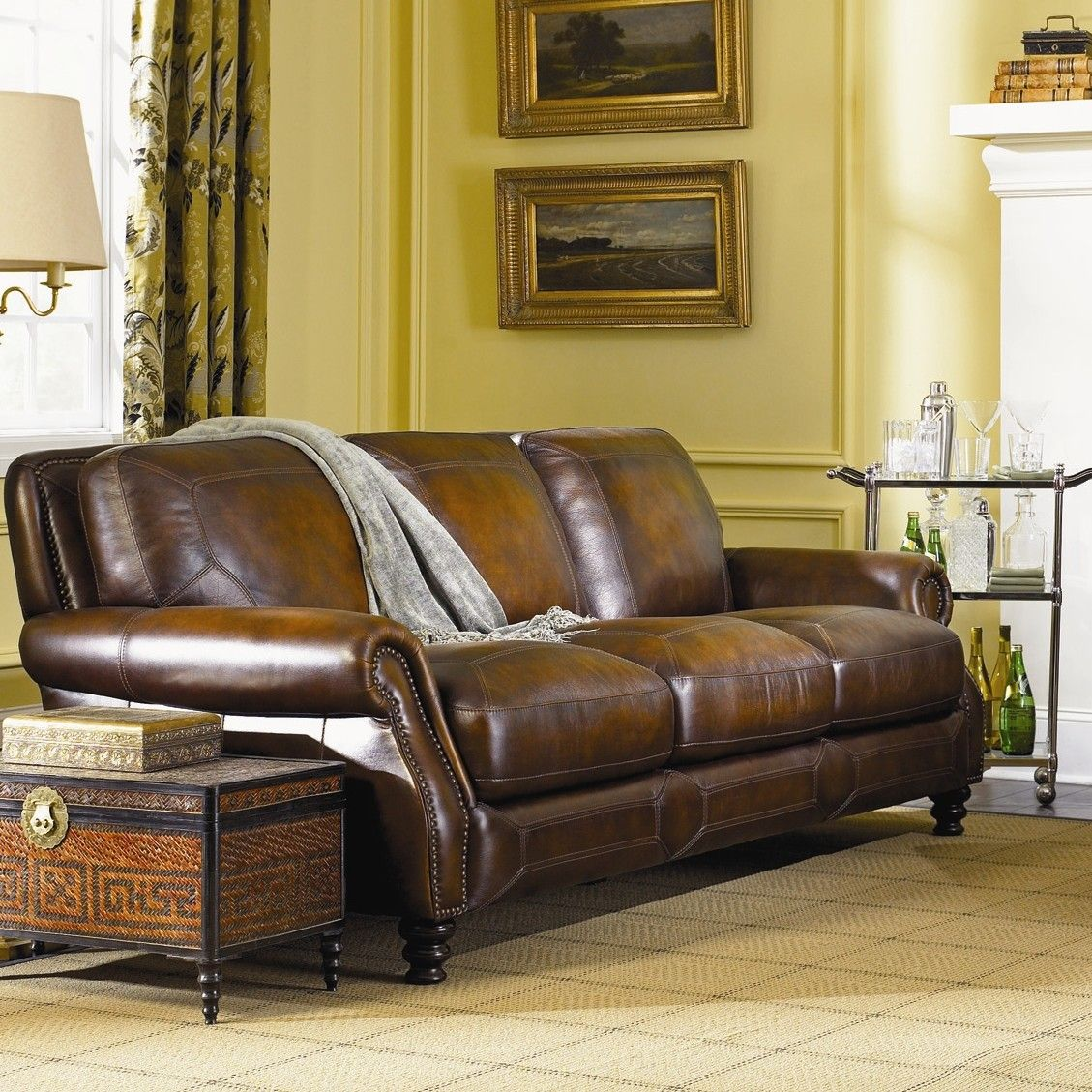 Simon Li Ashland Leather Sofa & Reviews Wayfair