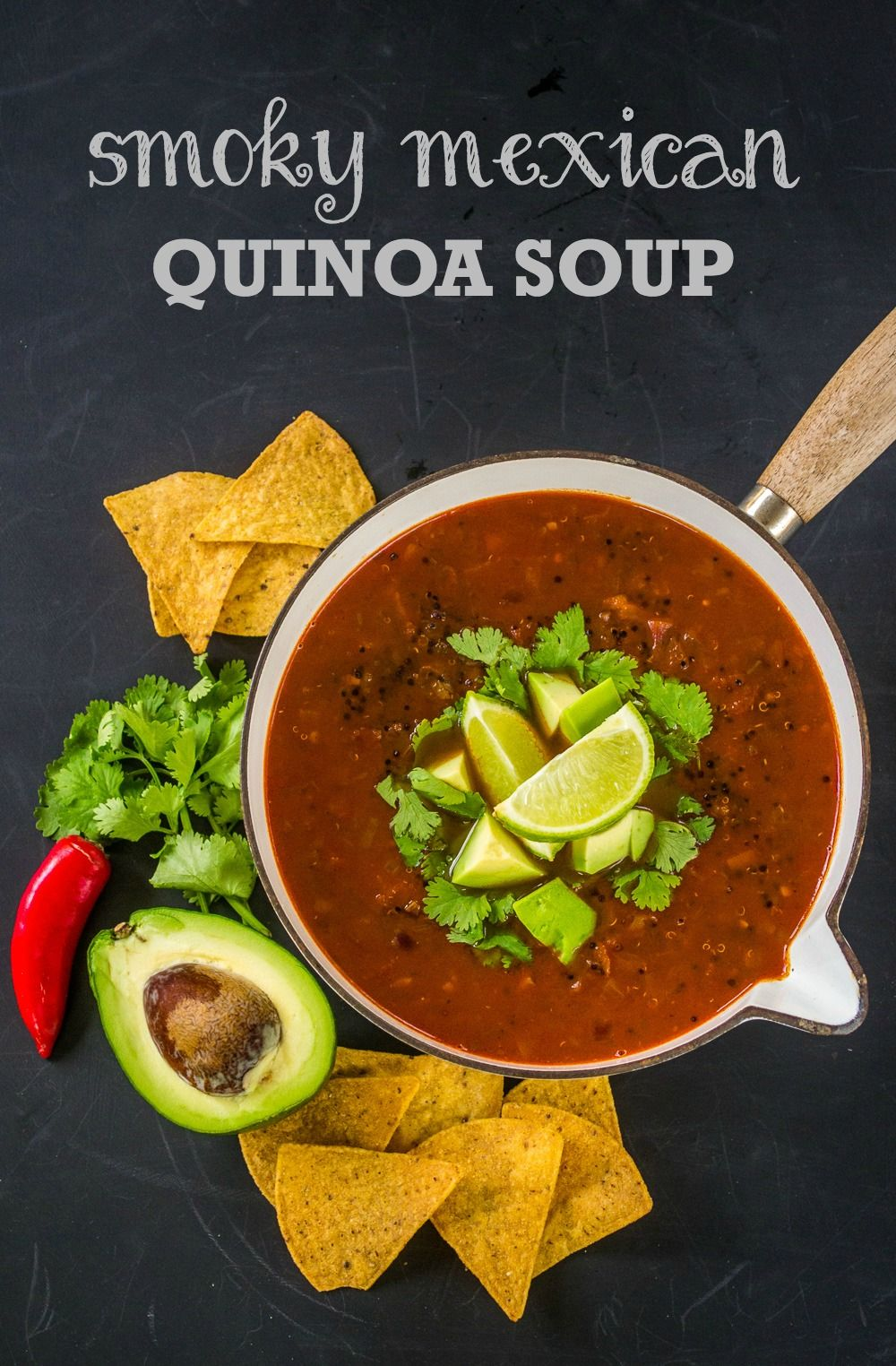 This Smoky Mexican Quinoa Soup Is Perfect For A Quick Weeknight Supper Filling And Super Tasty It Is A Meal In Its Mexican Quinoa Quinoa Soup Delicious Soup