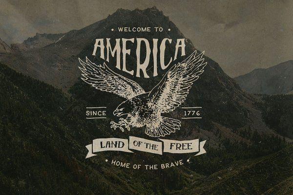 Vintage Americana Badges And Logos