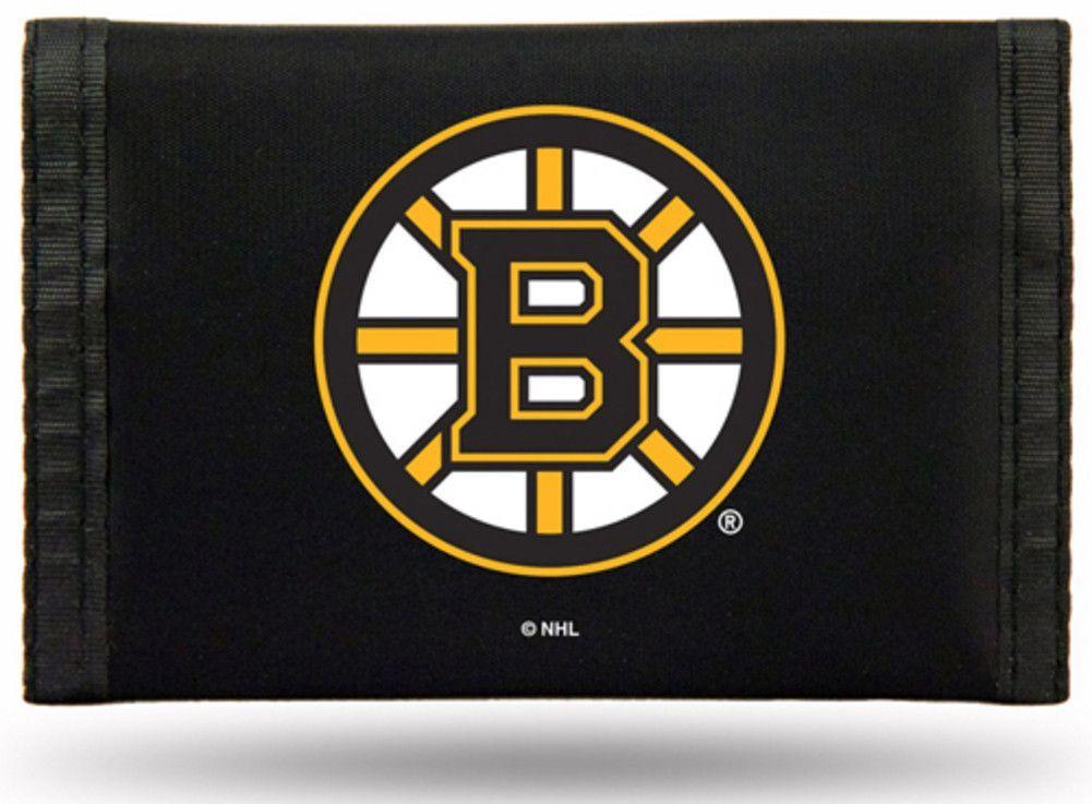 New! Boston Bruins Tri-Fold Nylon Wallet #BostonBruins