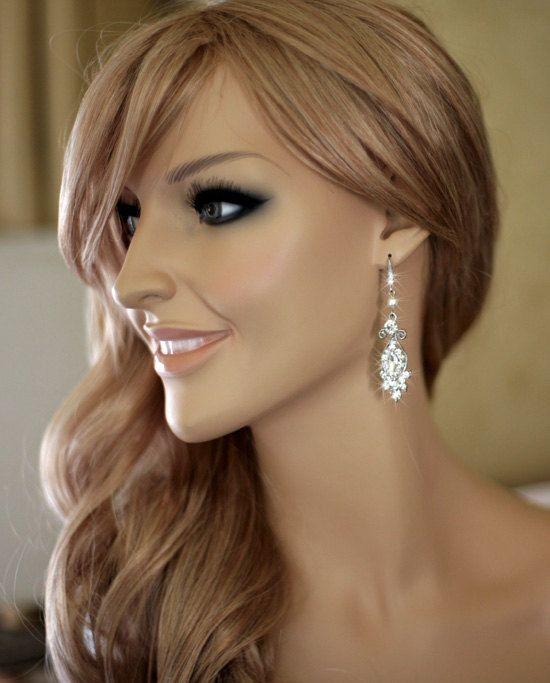 Katie - vintage inspired bridal earrings, wedding jewelry, crystal ...