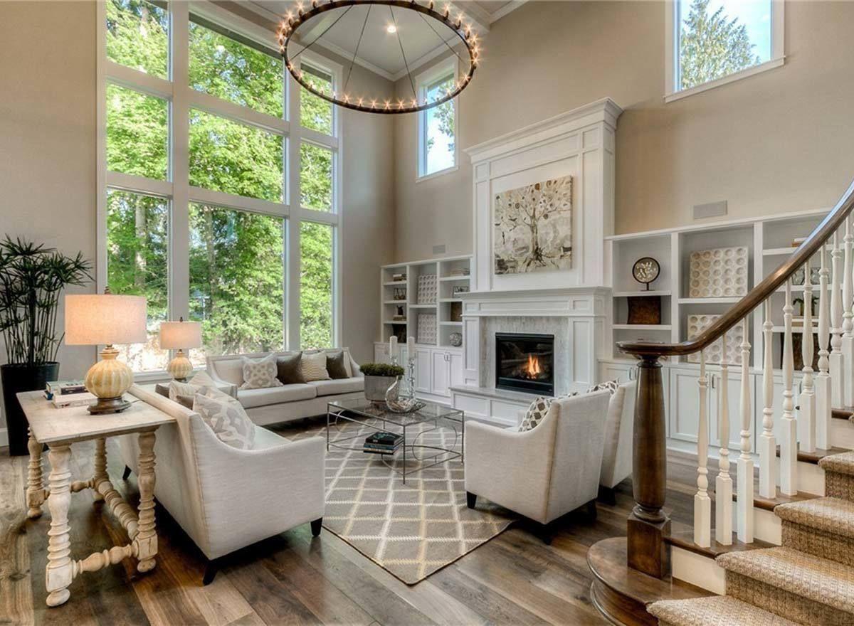Plan 23746jd Modern Craftsman House Plan With 2 Story Great Room In 2020 Great Room Layout Great Rooms Craftsman House Plan