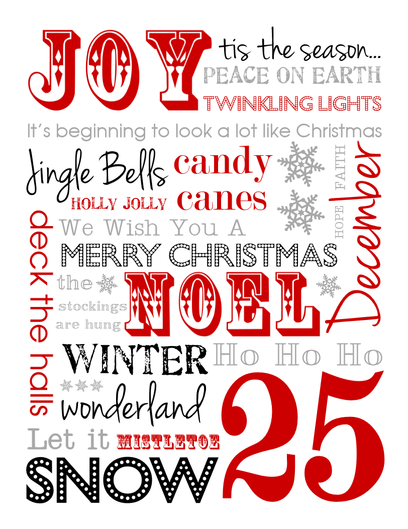 Ho ho holiday printouts to color - Celebrate The Holidays With These Free Christmas Subway Art Printables 5 Color Choices To Download And Print Now Perfect For Gifts Decor Or Tags