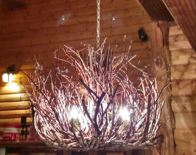 White Washed Driftwood Chandelier Adjustable Chain Driftwood