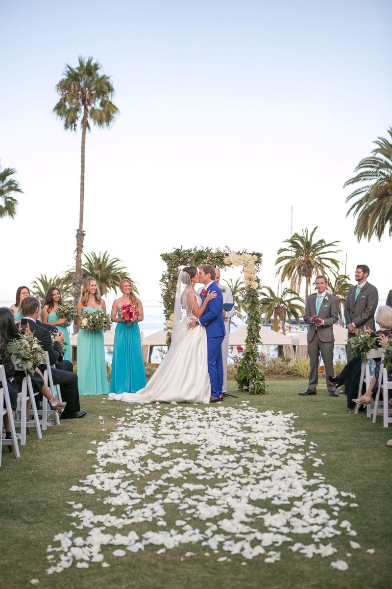 Vibrantly Hued Catalina Island Wedding Inspired by the