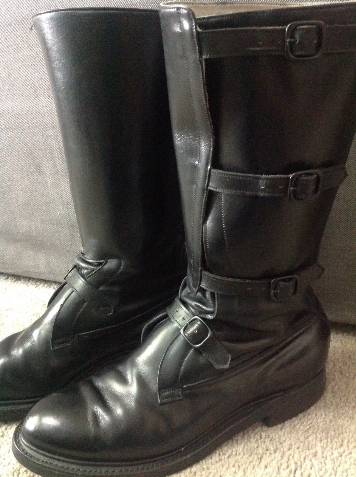 Dehner Shop Men S Dehner Trooper Black Leather Boots 10 D Boots