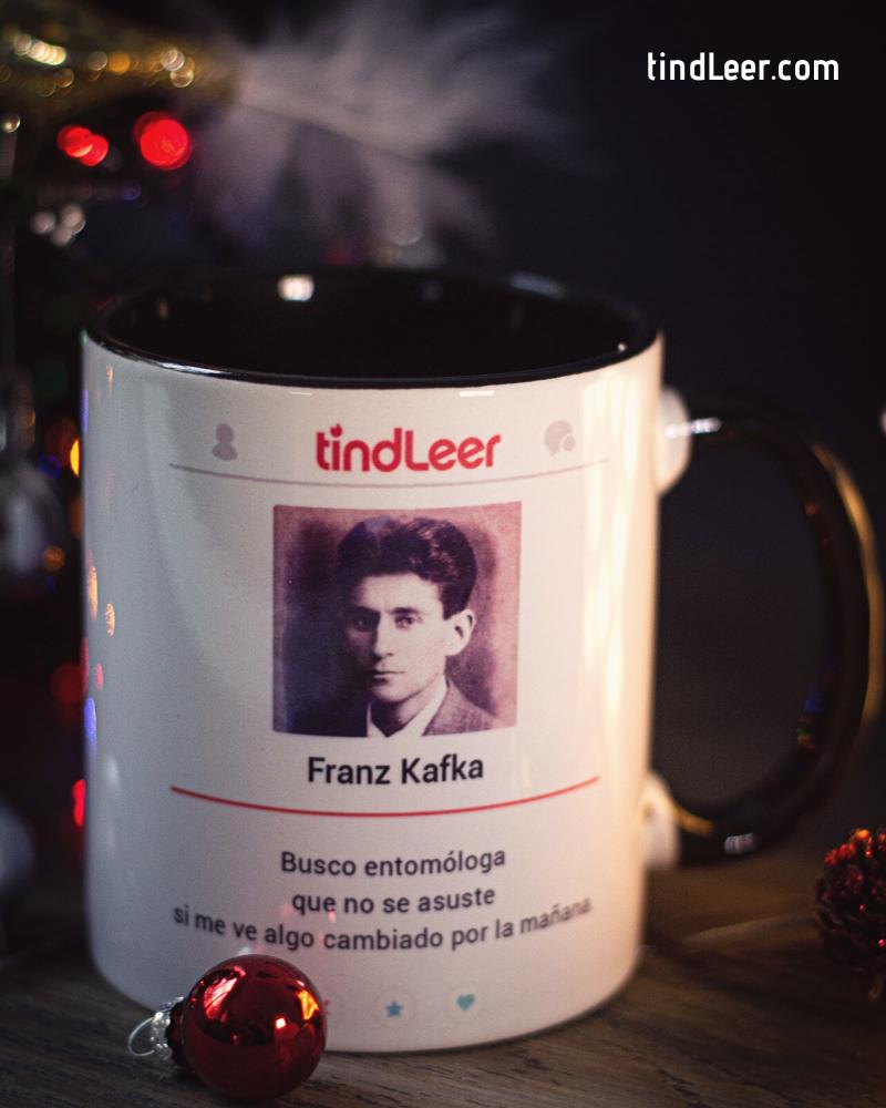 Taza Franz Kafka – TindLeer #tazasceramica