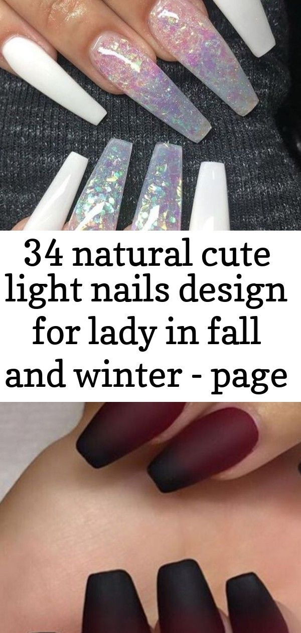 34 natural cute light nails design for lady in fall and winter – page 24 of 34 1