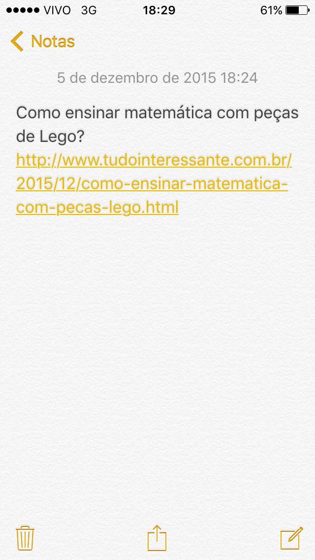 Matemática com Lego SITE