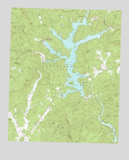 lake burton ga map Lake Burton Ga Usgs Topographic Map I Know Every Cove Like The lake burton ga map