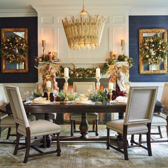 Tennyson Trestle Table TablesHoliday DecorationsChristmas DecorHouse DesignDining
