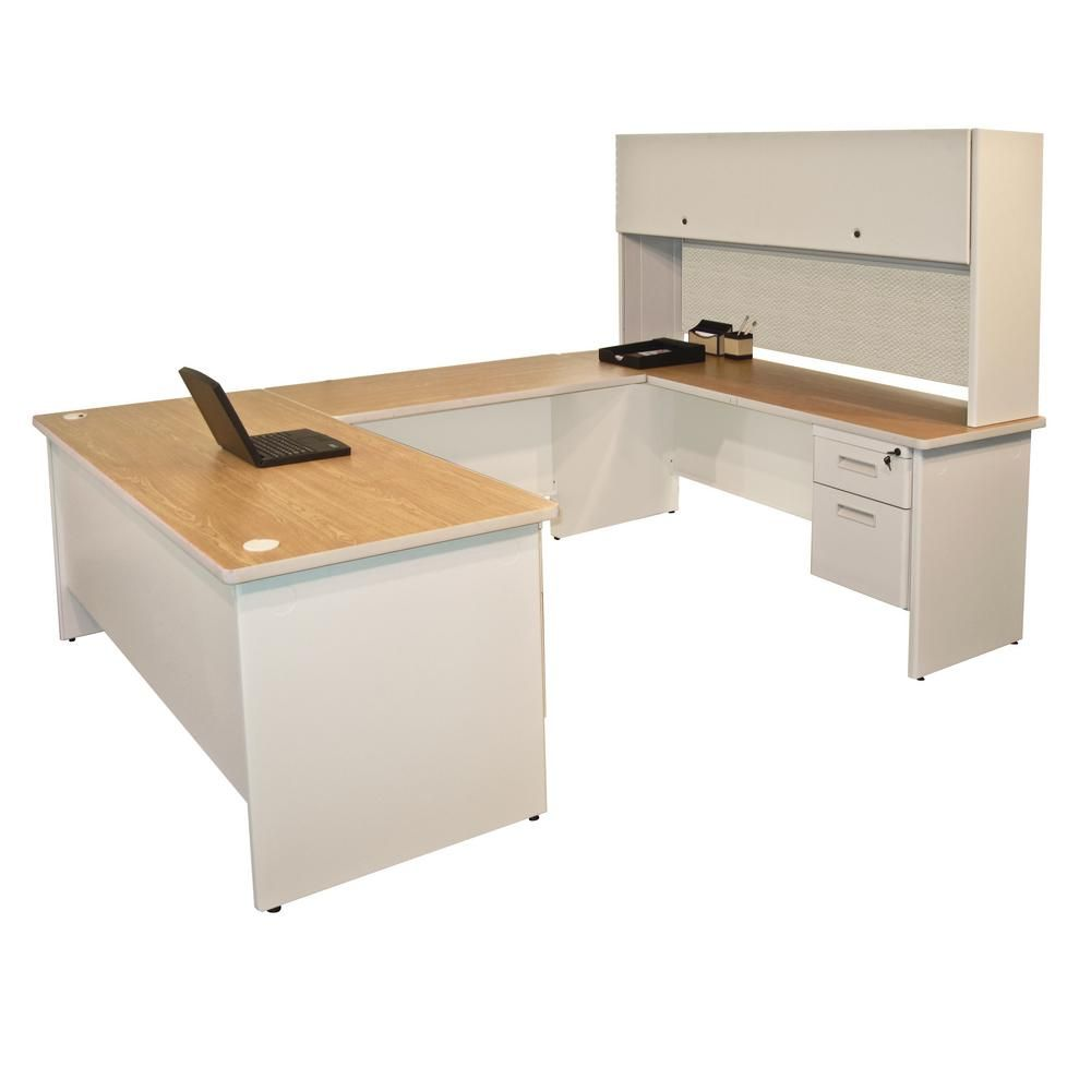 The Marvel Group 8 Ft 6 In W X 6 Ft D Putty And Desk Office