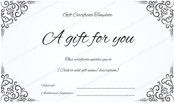 Gift Certificate Design Template Gift Certificate Design Template