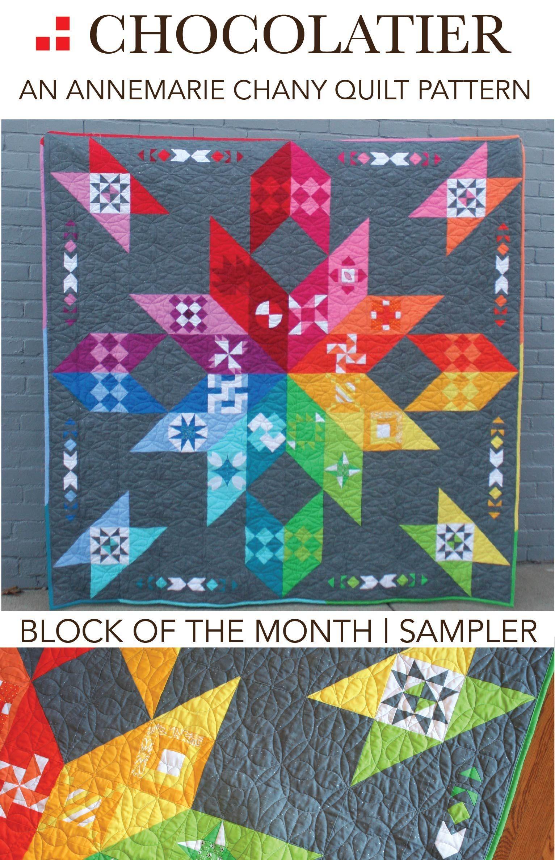 Chocolatier Block Of The Month Sampler Pattern Pdf Download Annemarie Chany Quilts Modern Quilt Patterns Quilt Patterns