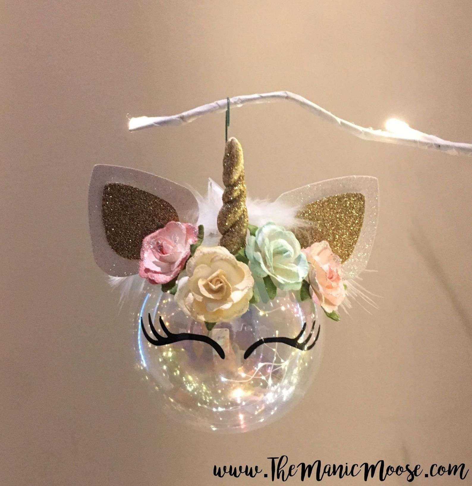 Magical Vintage Chic Unicorn Ornament With Images Ozdoby Swiateczne Dekoracje Swiateczne Boze Narodzenie