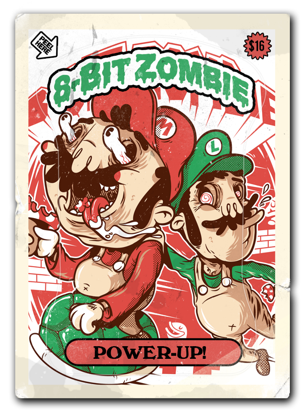 Home super mario bros8 bitkids stickersgarbage pail kidsapparel design character design inspirationvideo gameszombiesol