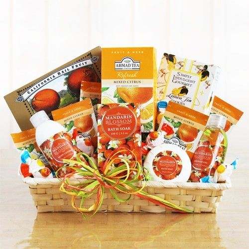 Pin by amerigiftbaskets free shipping to usa on mothers day mandarin treasure trove spa gift basket mandarin treasure trove spa gift baskets a mini mandarin treasure trove of spa products and gourmet goodies negle Image collections