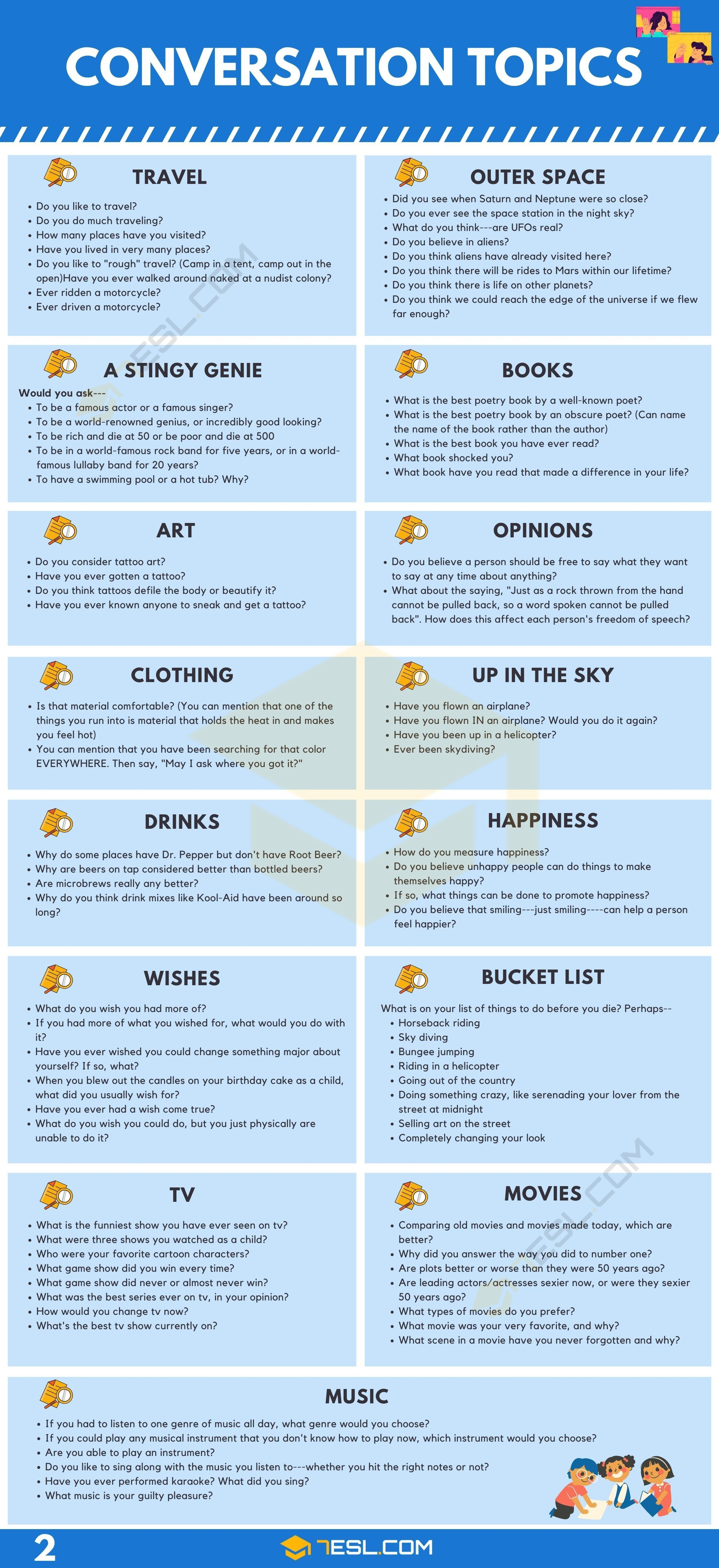 english topics by Christine Bruce