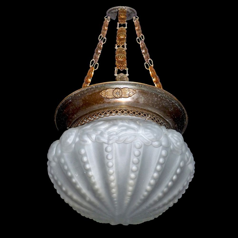 Antique french art nouveaudeco flush mount chandelier in the manner antique french art nouveaudeco flush mount chandelier in the manner of degu arubaitofo Images