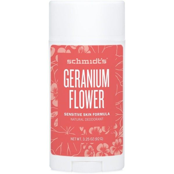 Schmidt's Deodorant Geranium Flower Sensitive Skin Deodorant Stick (14 CAD) ❤ liked on Polyvore featuring beauty products, bath & body products, deodorant, fillers, beauty, no color, sensitive skin deodorant and stick deodorant