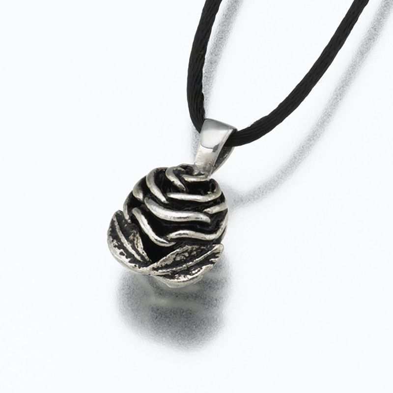 Sterling Silver Rose Cremation Pendant