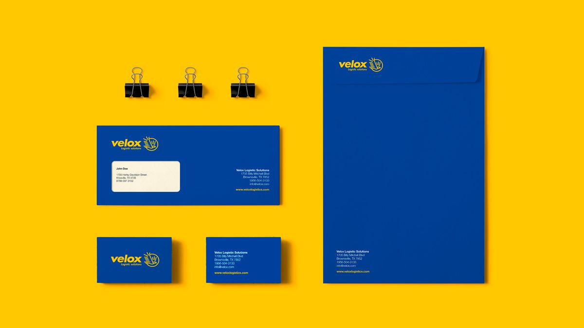 Velox Corporate Identity On Behance Dengan Gambar