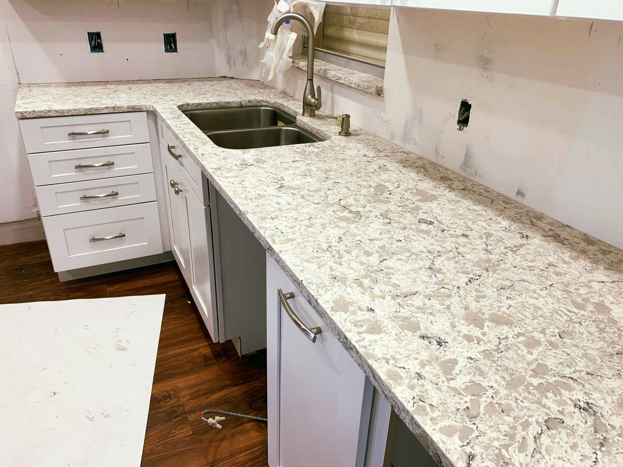 Magnificent Kitchen Island Countertop Made By Using Iconic Selinas Phoenix Quartz Designed Polis Countertops Kitchen Island Countertop Kitchen Countertops
