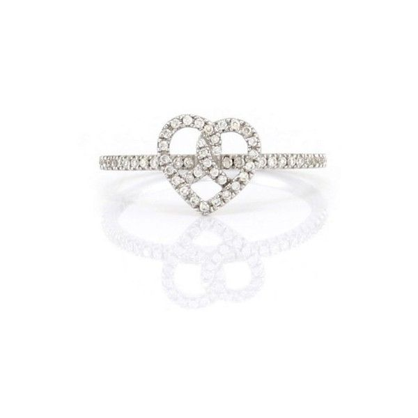Pre owned Hidalgo Pave Diamond 18K White Gold Heart Ring Size 6 25  900     liked on Polyvore featuring jewelry  rings  thick band wedding rings   Pre owned Hidalgo Pave Diamond 18K White Gold Heart Ring Size 6 25  . Previously Owned Wedding Rings. Home Design Ideas