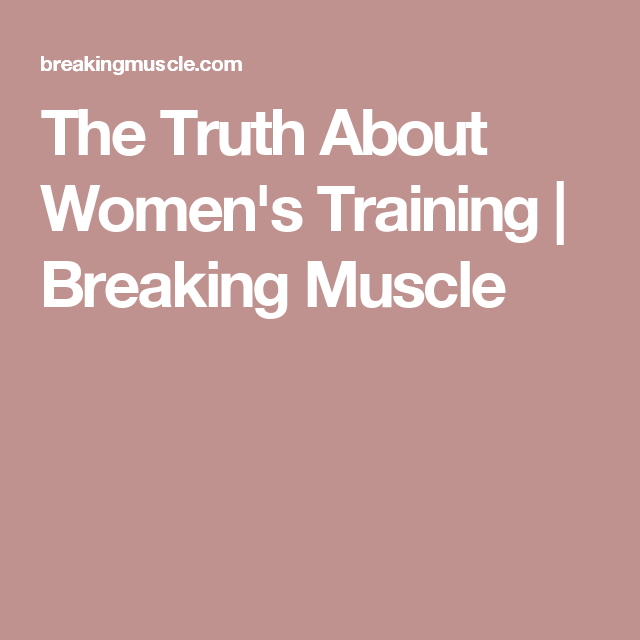 The Truth About Womens Training   Wrong time, Meeting