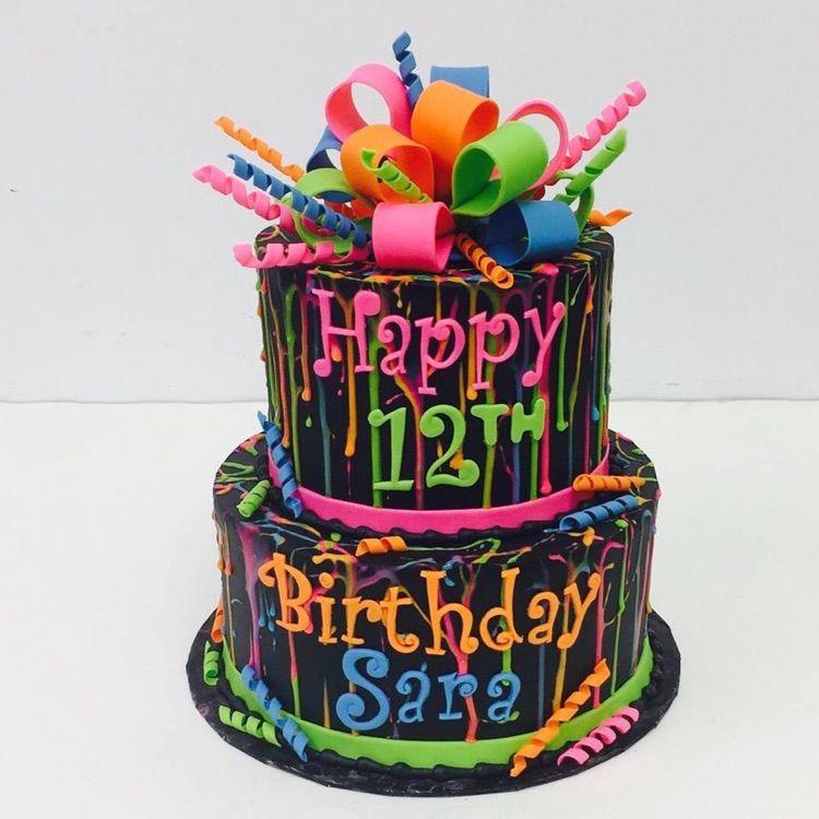 Amazing December Who Takes The Cake Winner Halliecakes In 2020 Neon Funny Birthday Cards Online Alyptdamsfinfo