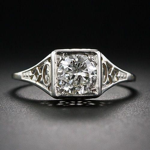 .70 Carat Diamond Vintage Solitaire Engagement Ring - 10-1-6047 - Lang Antiques