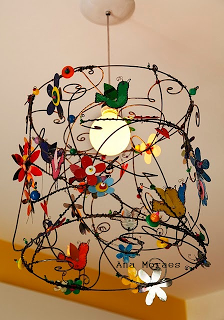 That simple upcyclerecycle pinterest lamp shades lights wire beads lampshade charms and imagination art greentooth Choice Image