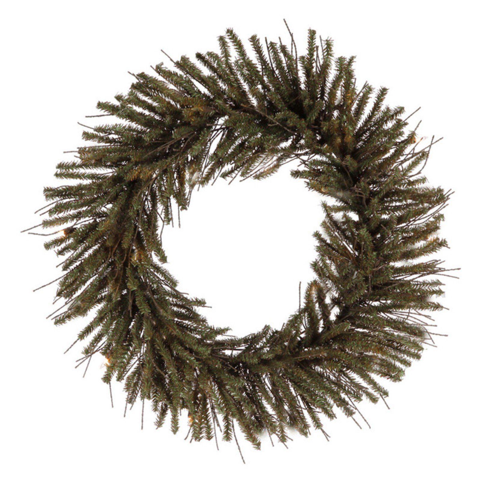 Vickerman Vienna Twig Artificial Unlit Christmas Wreath