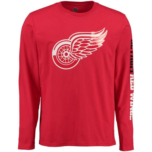 Detroit Red Wings Rinkside Eastwood Long Sleeve T-Shirt - Red - $20.99