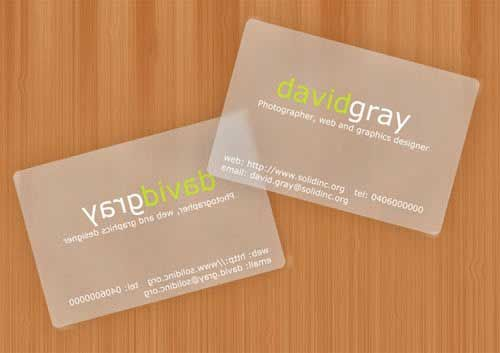 20 Frosted Translucent Business Cards Transparent Business Cards Business Cards Visiting Cards