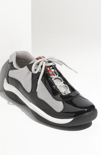 Americas Cup mesh and leather trainers Prada p9JlP6kB