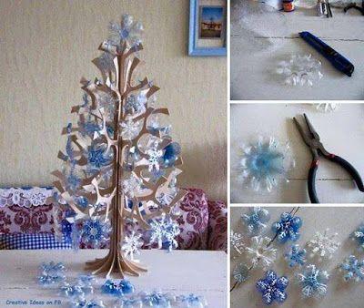 Se puede decorar con motivos navideños reciclando; reutiliza