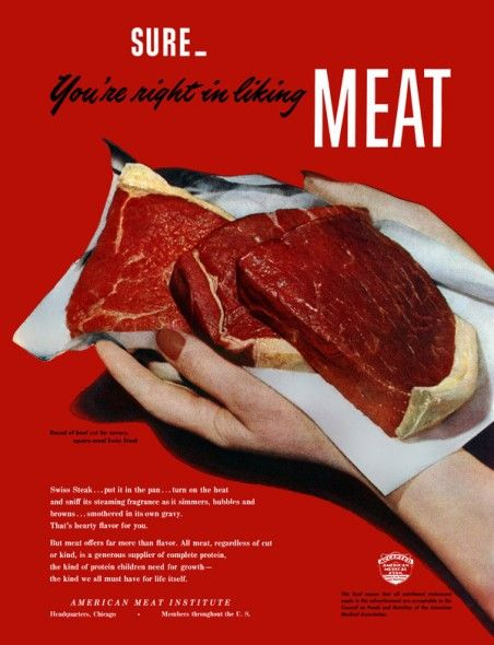 Image result for single word adverts meat