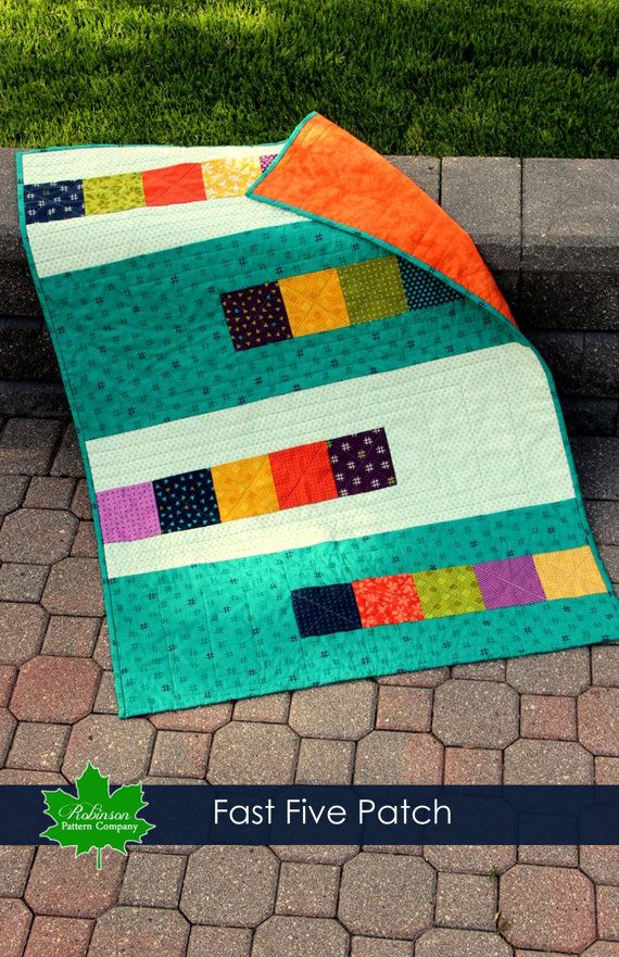 Fast Five Patch Quilt Pattern Pdf Instant Download Quick And