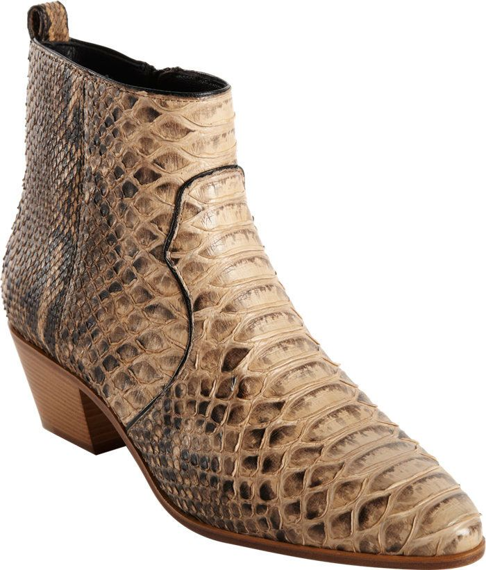 professional sale online Saint Laurent Snakeskin Chelsea Boots buy cheap cost nJGBA