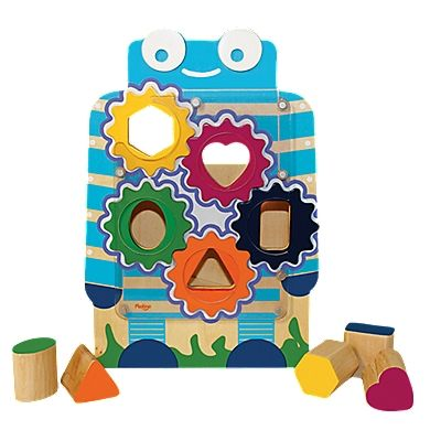 Shift problem-solving into high gear, with this ingenious take on the classic wood shape sorter!